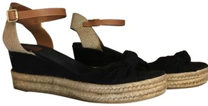 Tory Burch Espadrille Platform Heel And Tan Size 11 black Sandals