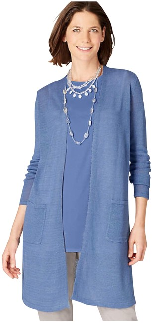 Preload https://img-static.tradesy.com/item/23965086/navy-blue-light-and-long-two-packet-cardi-cardigan-size-2-xs-0-1-650-650.jpg