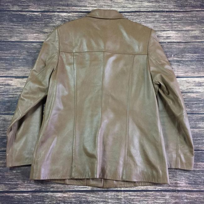 Pendleton Button Up Womens brown Leather Jacket