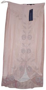 French Connection Skirt pink silver