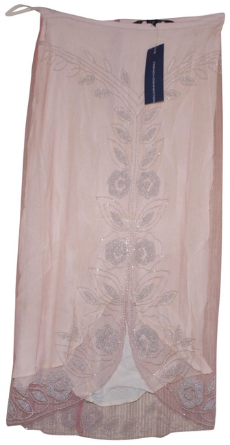 Preload https://item2.tradesy.com/images/french-connection-pink-silver-blus-viscose-lace-beaded-party-cocktail-knee-length-skirt-size-0-xs-25-23965096-0-1.jpg?width=400&height=650