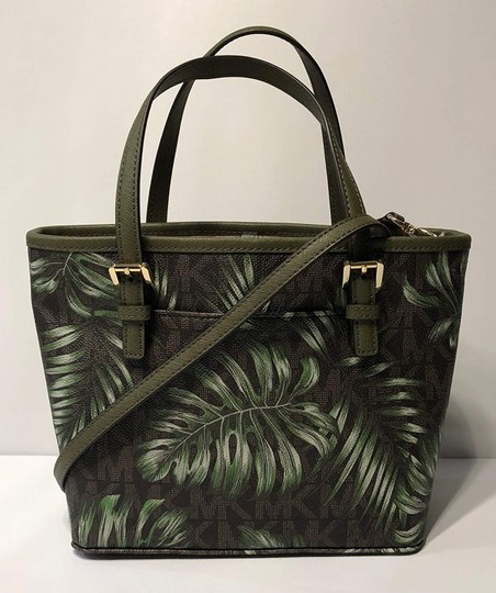 Michael Kors Matching Set Crossbody Tote in Olive / Palm