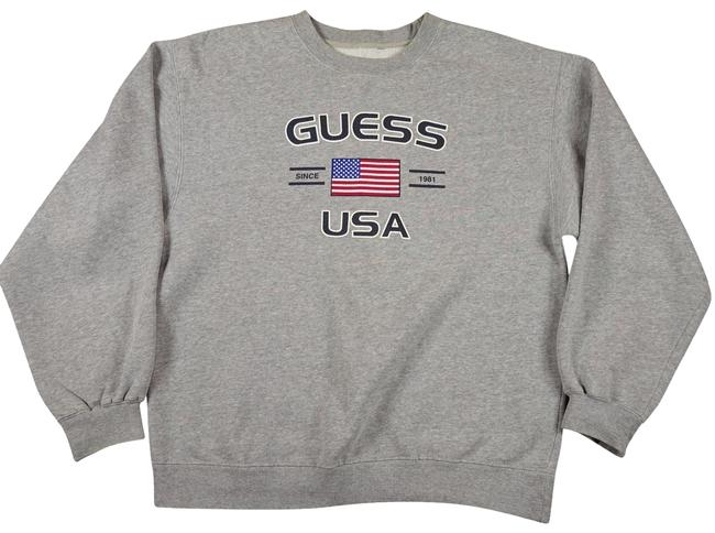 Preload https://item5.tradesy.com/images/guess-gray-sweatshirt-womens-vintage-american-flag-graphi-sweaterpullover-size-os-one-size-23965104-0-1.jpg?width=400&height=650