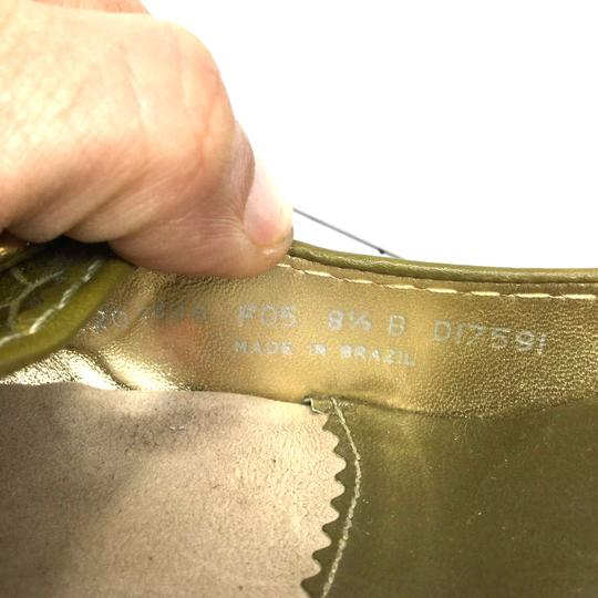 Cole Haan Us8.5 Heels S070518-15 Olive Green Sandals