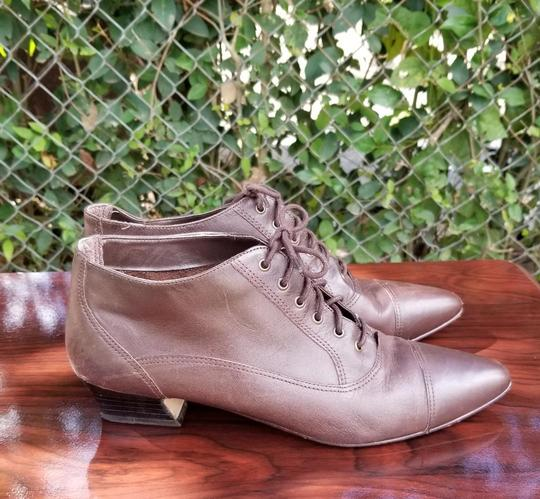 Corsina Vintage Ankle Leather Oxford Brown Boots