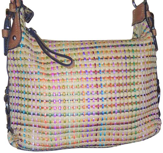 Preload https://item1.tradesy.com/images/fossil-vintage-with-trim-browntangreenpinkblue-straw-and-leather-shoulder-bag-23965130-0-1.jpg?width=440&height=440