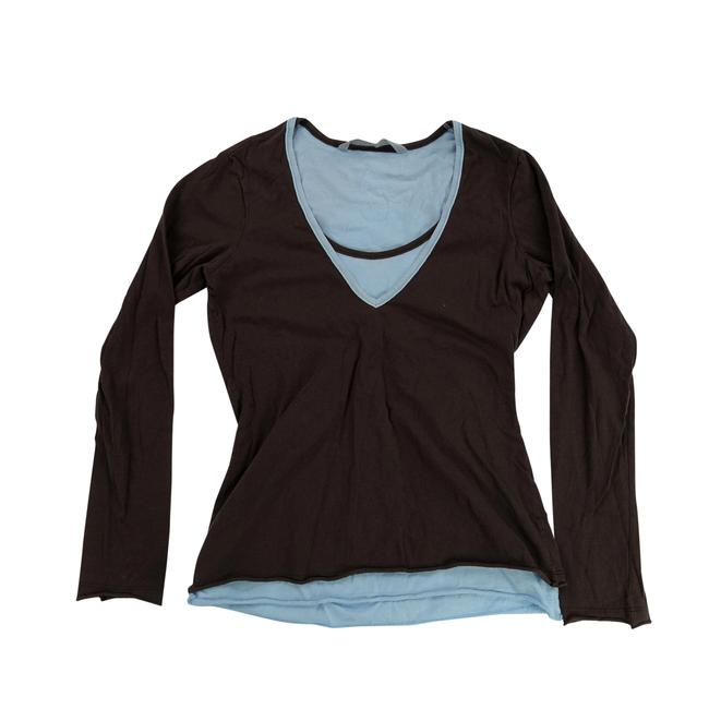 Preload https://img-static.tradesy.com/item/23965136/athleta-brown-womens-small-sleeve-neck-casual-geometric-g-tee-shirt-size-6-s-0-0-650-650.jpg