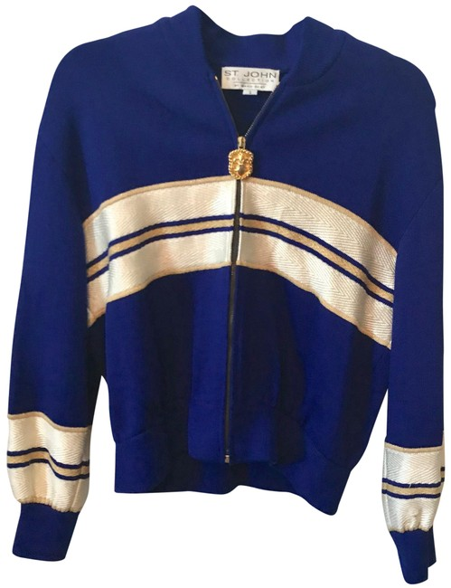 Preload https://item3.tradesy.com/images/zip-up-navy-gold-spring-jacket-size-4-s-23965137-0-1.jpg?width=400&height=650