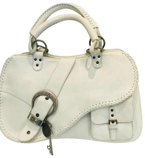 Preload https://img-static.tradesy.com/item/23965169/dior-gaucho-white-leather-tote-0-2-540-540.jpg