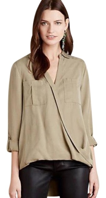 Preload https://img-static.tradesy.com/item/23965181/anthropologie-olive-celina-faux-by-holding-horses-blouse-size-6-s-0-1-650-650.jpg