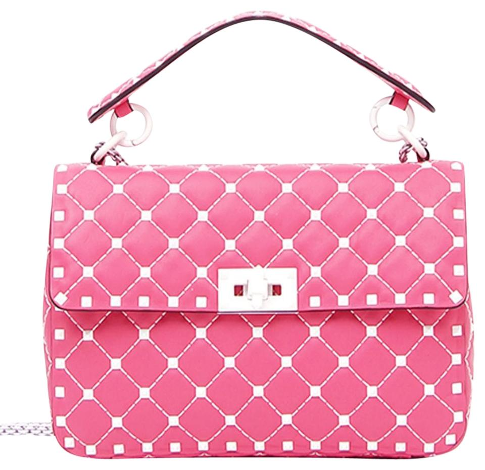 1d53fb4b70a Valentino Made In Italy Luxury Designer Rockstud Spike Quilted Napa Leather  Chain Cross Body Bag Image ...