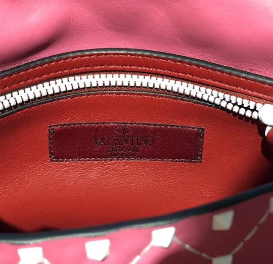 Valentino Made In Italy Luxury Designer Rockstud Spike Quilted Napa Leather Chain Cross Body Bag