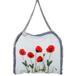 72bab674a13a Added to Shopping Bag. Stella McCartney Tote in Botanical. Stella McCartney  Small Falabella Embroidered Botanical Denim Tote