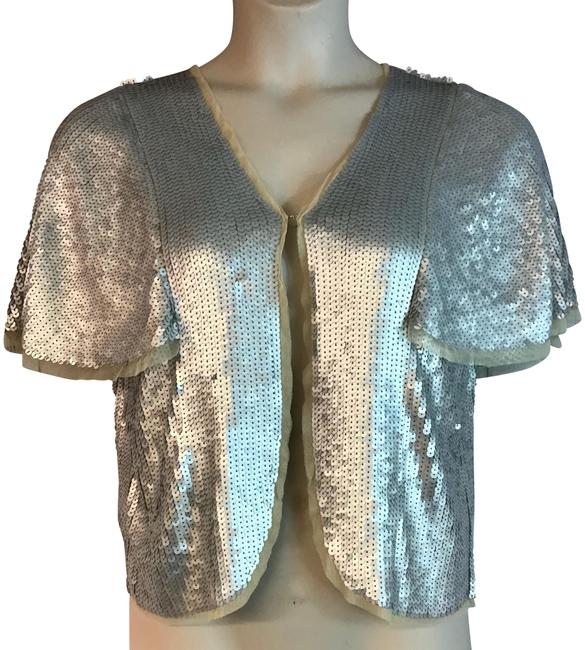 Item - Silver Embellished Cropped 40/8 Blouse Size 8 (M)