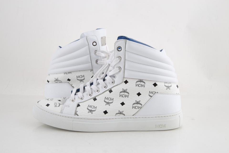 Retail Sneakers Carryover Shoes High 54Off Top White Mcm tshdxQrC
