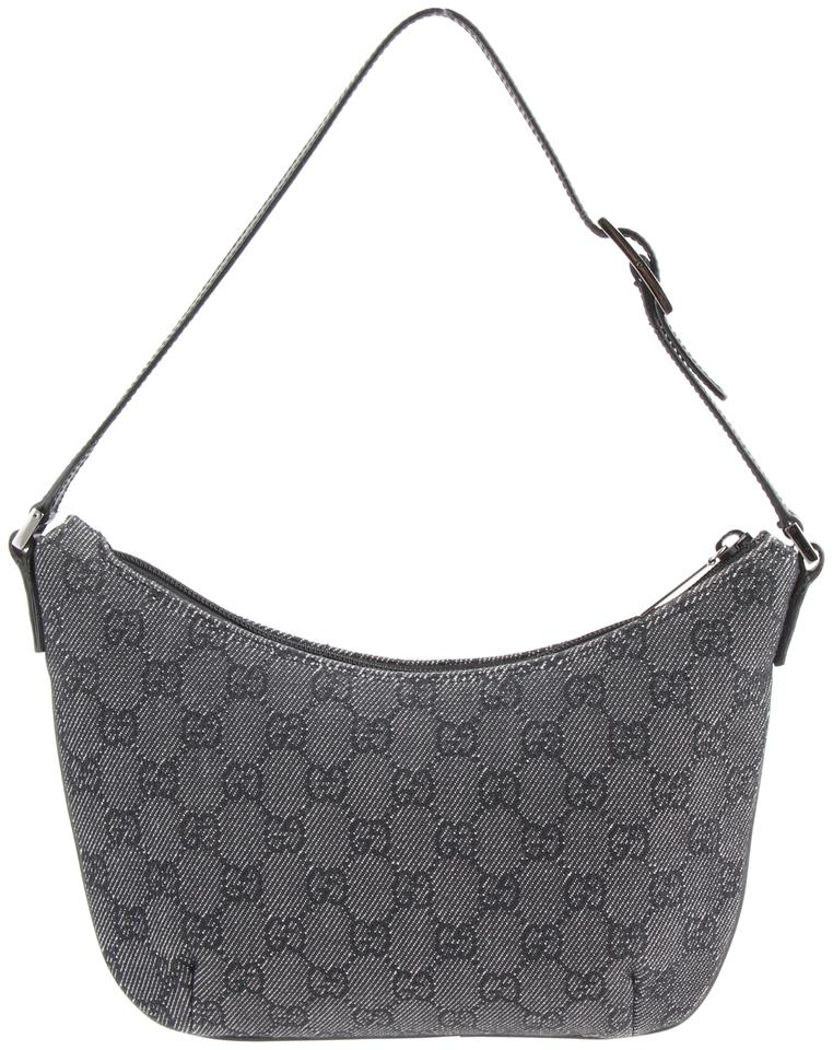 67a7e64df00b83 Gucci Jackie Small Vintage Pochette Gray Canvas Shoulder Bag - Tradesy