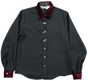Panhandle Slim Collar Small Button Western Sweater