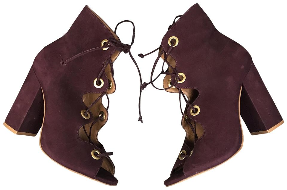 571b6975248 Steve Madden Carusso Wine Lace Up Booties Sandals Size US 5.5 Regular (M,  B) 59% off retail