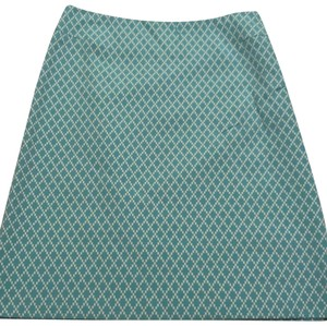 Tahari Mini Skirt blue/green white print