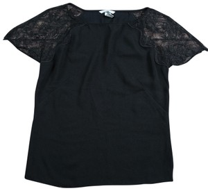 H&M Shirt Lace Sleeve Top black