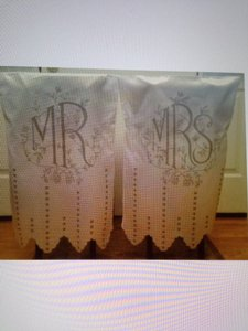 White Mr & Mrs Chair Covers