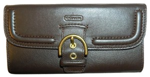 Coach ~NWOT~Beautiful COACH Campbell Large Leather Envelope Wallet