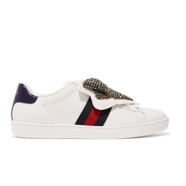Gucci Ace Crystal Bow Embellished Water