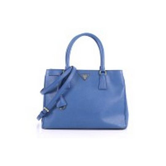b9949271bcd5 Prada Gardener's Saffiano Medium Blue Leather Tote - Tradesy