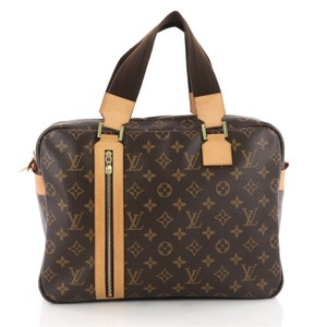 Louis Vuitton Sac Bosphore Canvas Satchel in Brown