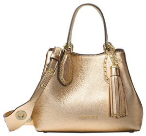 Michael Kors Leather 30h7mbnt1m Satchel in Pale Gold
