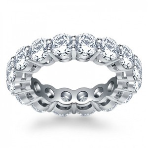 Madina Jewelry White 5.00 Ct Ladies Round Cut Diamond Eternity Women's Wedding Band