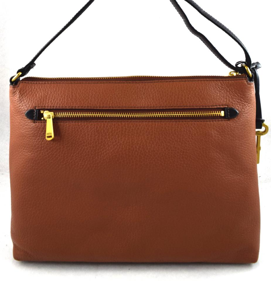 Fossil Kinley Brown Leather Messenger Bag Tradesy Small Crossbody 1234