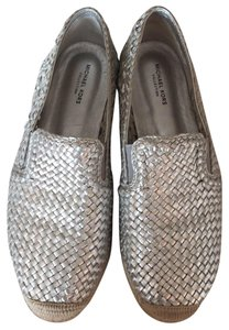 Michael Kors Collection silver Flats