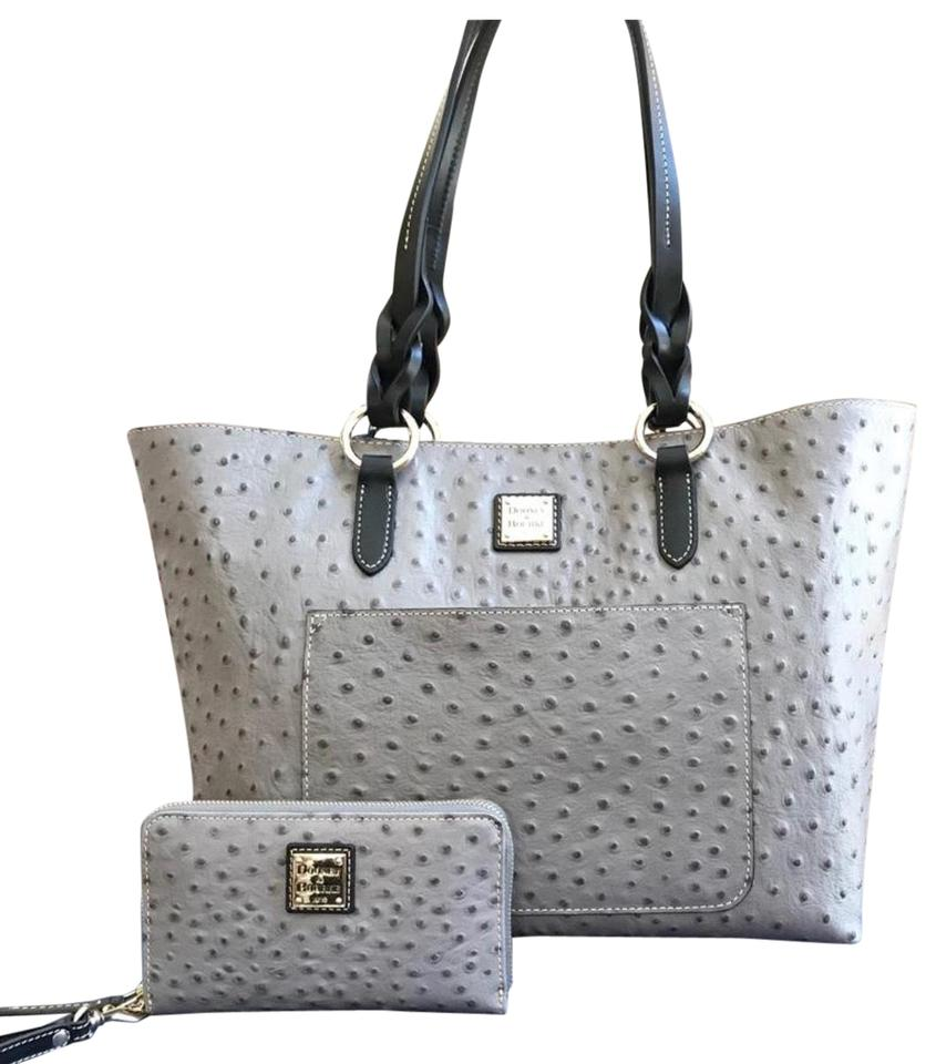 f3139ff88 Dooney & Bourke W 2pcs Tammy Ostrich Print Handbag Bundled W/Wallet ...