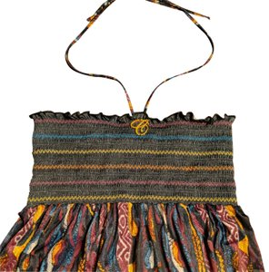 Black, purple, yellow, blue and white Maxi Dress by Coogi Maxi Size Large Strapless