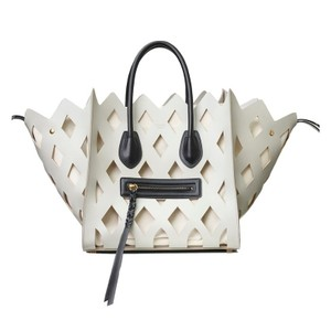 Céline Tote in Light Gray / Black