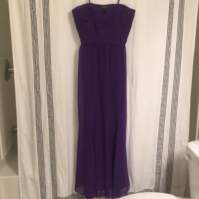 Item - Purple Polyester Evening How Modern Bridesmaid/Mob Dress Size 6 (S)