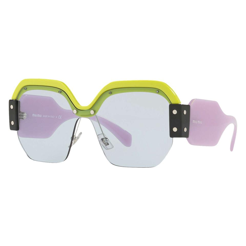 2380442ee104 Miu Miu NEW Miu Miu Sorbet 09SS Green Purple Oversized Sunglasses Image 0  ...