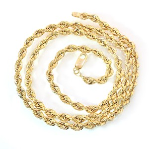 Avital & Co Jewelry 14K Yellow Gold 20 Inch Rope Chain 6.9 Grams