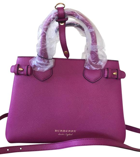 Item - Tote Bag House Check Derby Brilliant Fuchsia Pink Leather Satchel