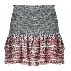 a9a1811be1cff5 Veronica Beard Mini Skirt Terracotta   Black Multi