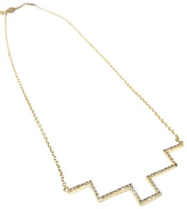 Elizabeth and James gold pyramid crystal simplicity necklace Fall season