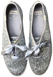 Kate Spade Keds Sequins Sneakers Silver Athletic