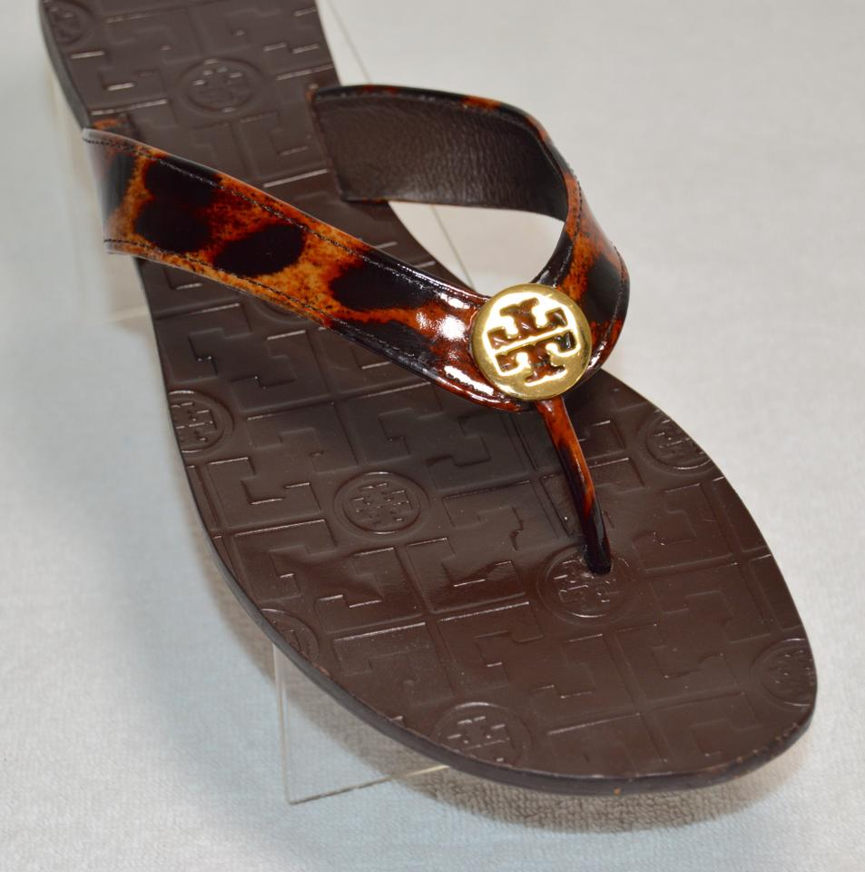 802383baa Tory Burch Cheetah Print Brown Thora Flats Size US 11 Regular (M