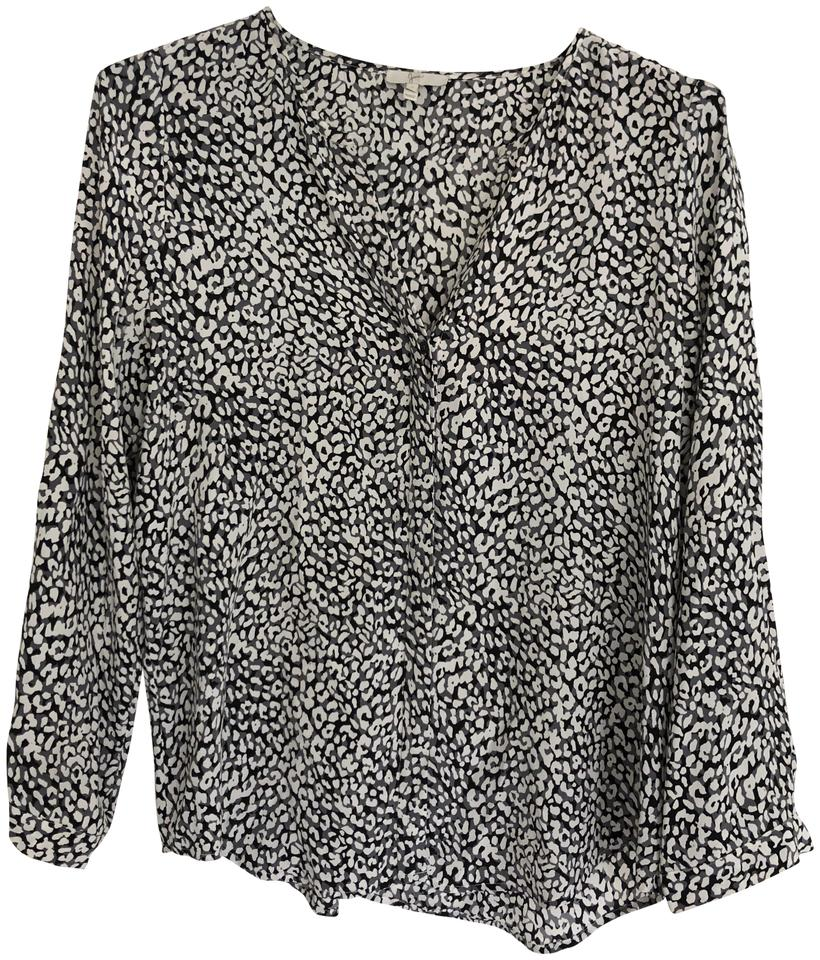 8a1a8609cec Joie Leopard Silk Printed Blouse Size 4 (S) - Tradesy