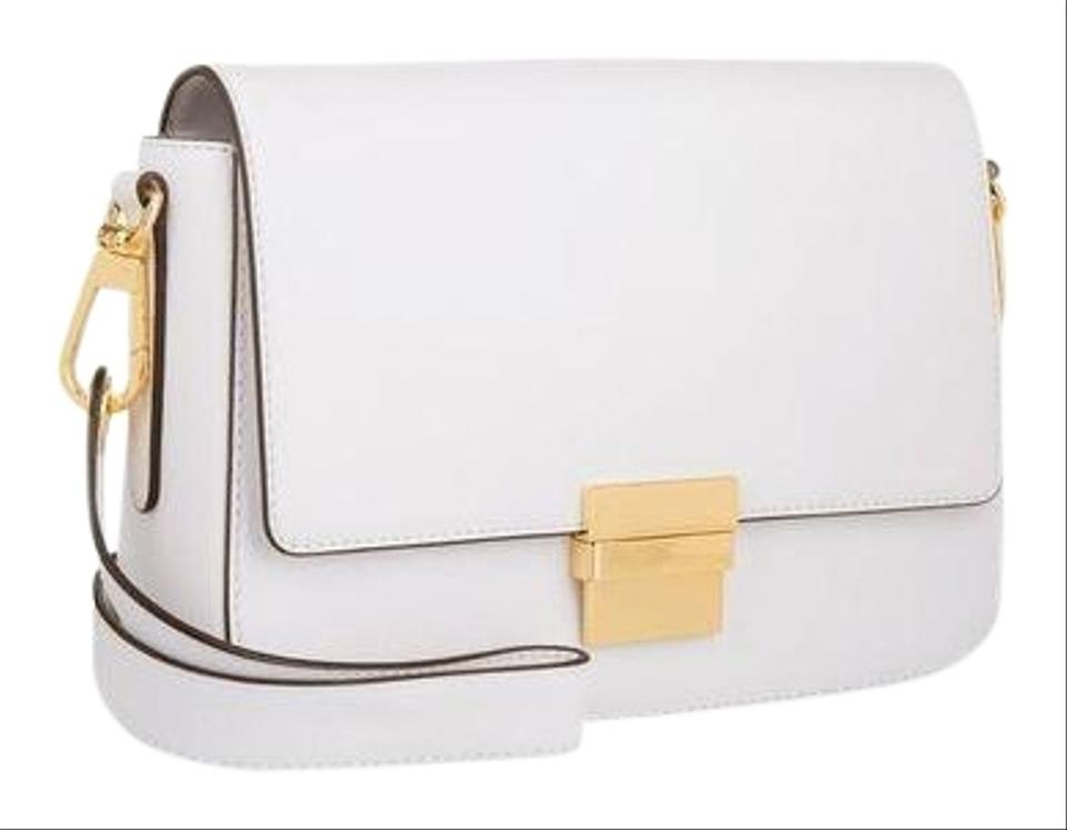 8dc4947b182a Michael Kors Madelyn Small Wristlet Optic White Leather Clutch - Tradesy