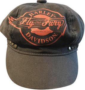 Harley Davidson Gray Orange One Size Newspaper Boy Style Hat - Tradesy c143af25619
