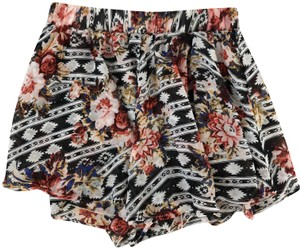 Show Me Your Mumu Print Swing Luxury Casual Floral Mini/Short Shorts Printed