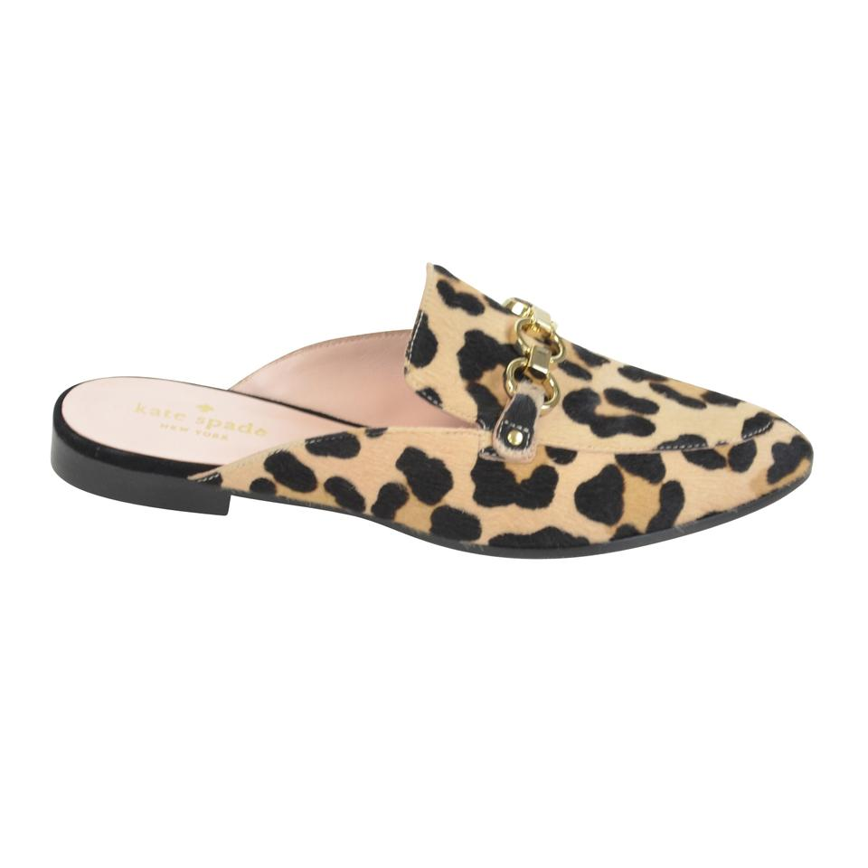 2e7124b23184 Kate Spade Leopard Print Cece Too Calf Hair Loafers Mules Flats Size ...