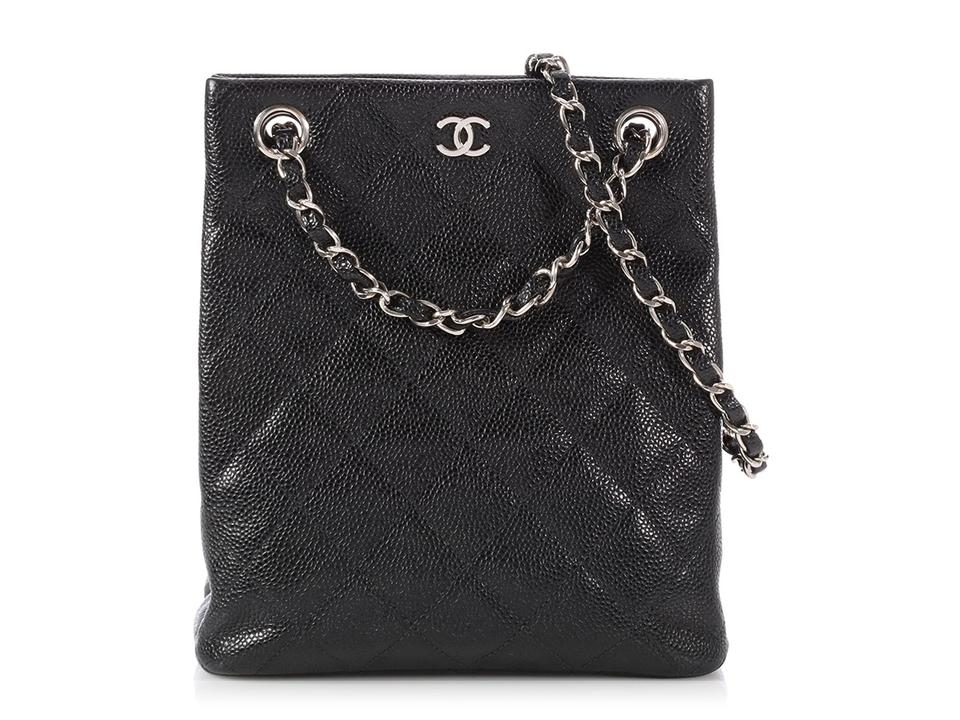 926190043d46 Chanel *sold Ebay*small Vertical Quilted Caviar Black Leather Tote ...